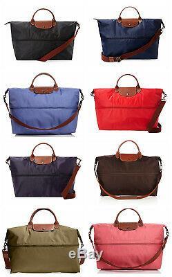 Nouveau Le Pliage Longchamp Extensible Noir Beige Weekender Crossbody Marine Gris Rouge
