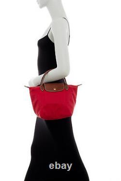 Nouveau Longchamp Le Pliage Type S Petit Sac Rouge Rose Gris Noir Orange Khaki Navy
