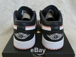 Nouveau Nike Air Jordan 1 Low Aj1 Quartz Rose Noir Gris Uk 5 5,5 Eur 38