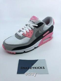 Nouveau Nike Air Max 90 Gris Rose Rose Rose Noir Cd0490-102 Femme 6 / 6.5 / 7.5 / 8