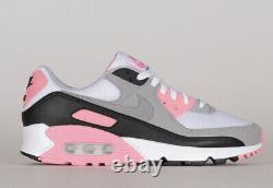 Nouveau Nike Air Max 90 Gris Rose Rose Taille Black Women 7-12 Sneakers Cd0490-102