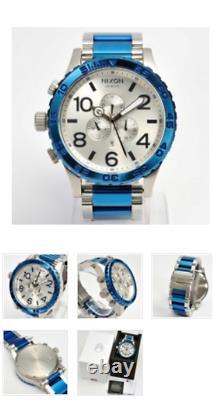 Nouveau Nixon Simpley 51-30 Mens Analog Quartz Watch Blue Silver Stainless Genuine &