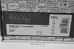 Nouveau Reebok Pump Omni Lite Salty Basquiat Gris / Noir / Neon Pink Rare Retro 10.5