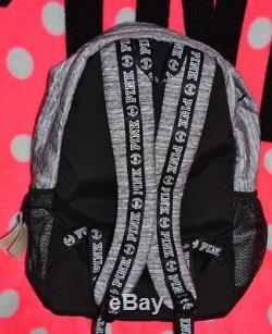Nouveau Victoria's Secret Rose Campus Backpack Cartable De Voyage Gris Noir Blanc