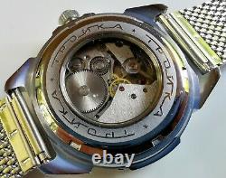 Nouveau Vieux Stock Vostok 2414 Manuel Amphibia Komandirskie Watch