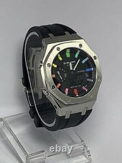 Nouvelle Casio G-shock Ga-2100 Montre Casioak Ap Offshore Rainbow Édition Limitée