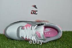 Nouvelle Nike Air Max 90 Taille 9.5 Blanc Gris Rose Rose Noir Cd0881-101