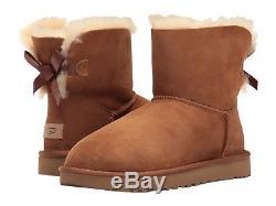 Nouvelles Bottes D'hiver Bailey Bow Authentiques Pour Femmes Ugg Authentiques Chaussures Noir Châtaigne Rose Gris