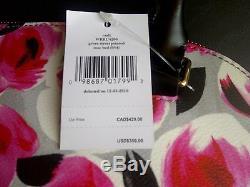 Nwt Kate Spade Pvc Rose Sac À Main Imprimé Sac À Main Sac À Main $ 359 Rouge / Rose / Gris / Noir