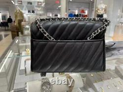 Nwt Michael Kors Small Rose Quilted Leather Shoulder Flap Bag Noir/gris/blanc
