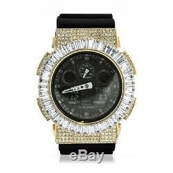 Or Personnalisé Baguette Glacé Jumbo Ga-100 G Shock Watch