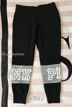 Pantalon De Survêtement Collégial Skinny Rose Et Noir Gris Chiné De Victoria's Secret M