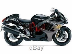 Pour Suzuki Gsxr1300 Hayabusa 08-14 Kits De Carénage Abs Caches Gsx-r1300 Noir Gris