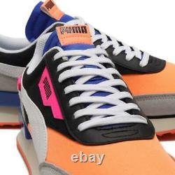 Puma Future Rider Le Jeu 371149 04 Noir / Pétillantes Orange / Grande Hauteur Gris / Bleu / Rose
