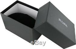 Quartz Cristal Bulova Hommes Accents Cadran Gris Ton Argent De 43mm Montre 96b221