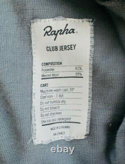 Rapha Jersey Rrp £130 Grey/black/pink Large Merino Strade Bianche Cyclisme