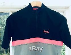 Rapha Jersey Rrp £ 130 Gris / Noir / Rose Grande Merino Strade Bianche Cyclisme