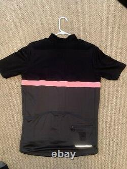 Rapha Mens XL Club Jersey Black Grey Pink Pegoretti Excellent