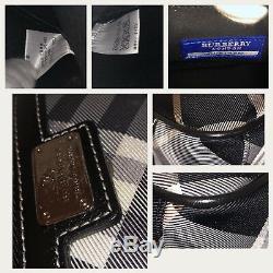 Rare Auth Burberry Blue Label Grand Sac Messenger (noir / Gris / Rose Check)