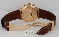 Rare Breguet Type XX Transatlantique Saumon 18k Rose Or Chronographe 3820 40mm