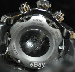 Rare Invicta Venom Suisse Hommes Chronographe Cadran Gris Noir Poly Montre 90133