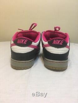 Rare Nike Dunk Sb Low Pro À Usage Unique (504750-061) Noir / Rose / Gris Sz 11 2014