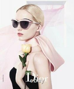 Rare Nouveau Véritable Christian Dior Demoiselle 1 Lunettes De Soleil En Cristal Rose Noir Exmp9