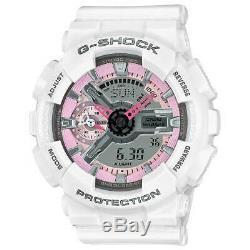 Regarder La Série G-shock S Casio Femmes Rose Et Gris Cadran Blanc Bracelet Gmas110mp-7a