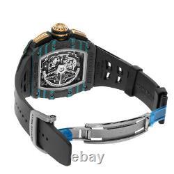 Richard Mille Rm11-03 Carbon Turquoise Quartz Tpt Montre De Cadran De Squelette Rm11-03