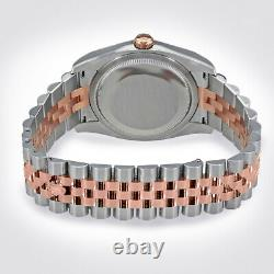 Rolex 36mm Rhodium Jubilé Diamant Everose Rose 18k Jubilé D'or Datejust Gray