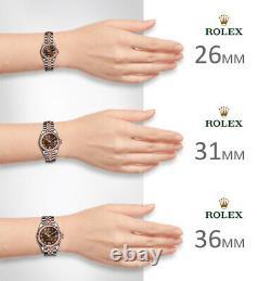 Rolex 36mm Rhodium Jubilé Roman Everose Rose Jubilé D'or 18k Datejust Gray