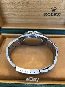 Rolex Air King 14010 Cadran Argent En Acier Inoxydable Box Et Papiers