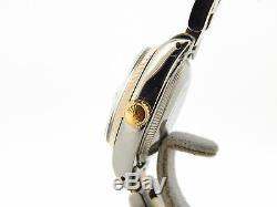 Rolex Datejust 2tone Or 14k Montre En Acier Tahiti Mop Dial Diamond 6917
