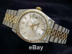 Rolex Datejust 2tone Or / Acier Inoxydable Jubilé Avec Cadran Argent 1601