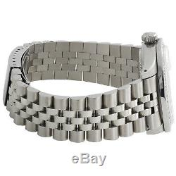 Rolex Datejust 36mm 1601 Mens Jubilee Numéral Romain Diamond Watch 1,90 Ct