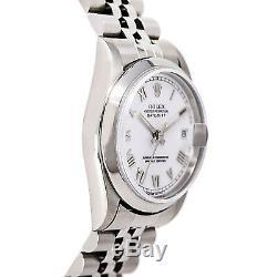 Rolex Datejust 68240 Femmes Montre Automatique Cadran Blanc Ss Jubilee Band 31mm