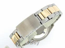 Rolex Datejust Deux Tons Or 14k Oyster En Acier Inoxydable Avec Cadran Argenté 1601