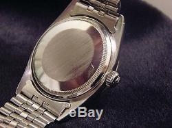 Rolex Datejust En Acier Inoxydable 18k Montre En Or Blanc Jubilé D'argent Bracelet 1601