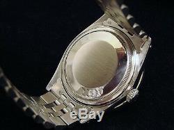 Rolex Datejust En Acier Inoxydable 18k Or Blanc Noir Avec Jubilee Band 1601