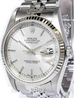 Rolex Datejust En Acier Inoxydable Argent Cadran Automatique Montre F 16234