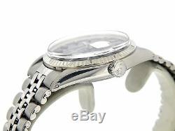 Rolex Datejust En Acier Inoxydable Et Or 18 Carats Blanc Black Watch Jubilé 1601