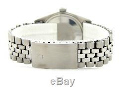 Rolex Datejust En Acier Inoxydable Hommes Or Blanc 18 Carats Montre Jubilé Cadran Argent 1601