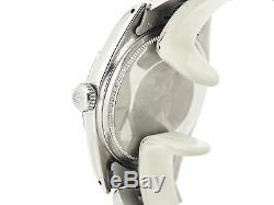 Rolex Datejust En Acier Inoxydable Jubilé Montre Avec Silver Diamond Dial 1601