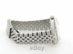 Rolex Datejust En Acier Inoxydable Mens Or Blanc 18 Carats Lunette Cadran Argent 1601