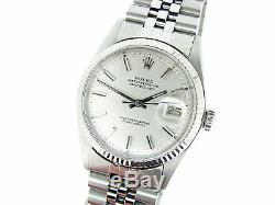 Rolex Datejust En Acier Inoxydable Or Blanc 18 Carats Avec Cadran Argent Jubilé 1601