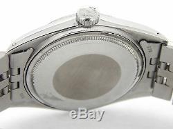 Rolex Datejust En Acier Inoxydable Or Blanc 18 Carats Avec Jubilee Band Et Cadran Noir