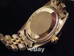 Rolex Datejust En Or 14k 2tone Montre En Acier Inoxydable Ovale Jubilee Band 1601