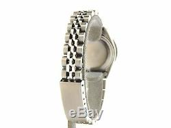 Rolex Datejust Lady Montre En Acier Inoxydable De Tahiti Noire Mop Dial Diamond Bezel