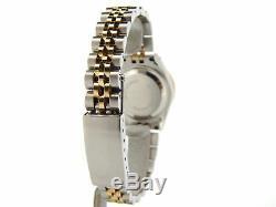 Rolex Datejust Lady Montre En Acier Plaqué Or 18k Avec Cadran À Diamants Serti De Diamants Pour Lunette 69173