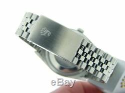 Rolex Datejust Mens Watch En Acier Inoxydable De 2000 Jubilee Bleu Roman Dial 16220
